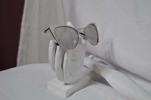 Mirrored Lens Cat Eye Sunglasses