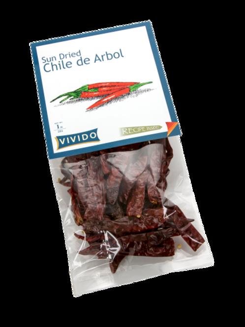 Sun Dried Chile De Arbol - 1OZ (28g)