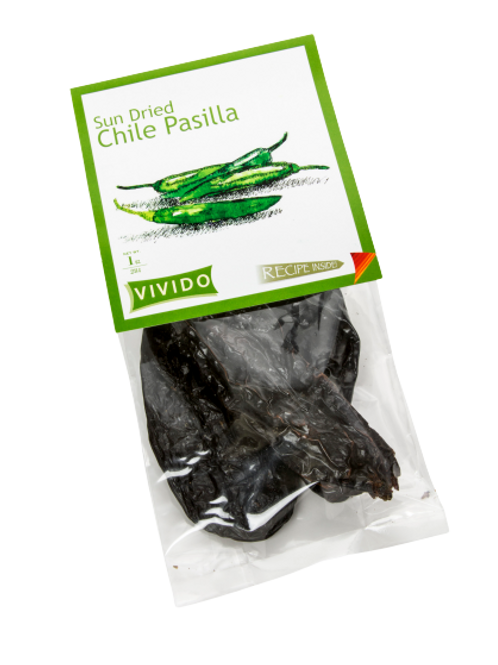 Sun Dried Chile-Pasilla 1 OZ (28g)
