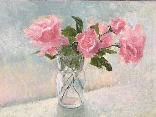 """""""Sunlit Roses"""" by Susan Allen"""