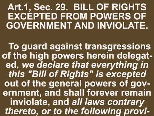 Forever Inviolate - Liberties in the Texas Bill of Rights