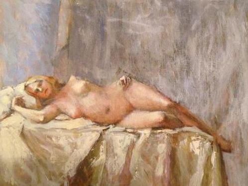 Reclining Nude by Susan Allen