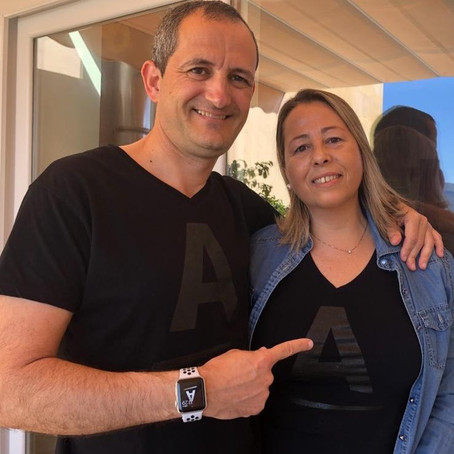Pepe Font y Helena Pastor.