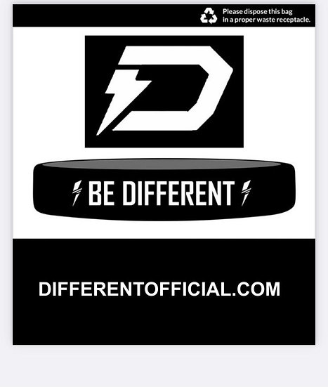 """BE DIFFERENT"" WRISTBAND"