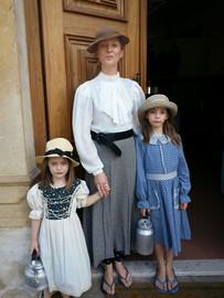 Visitors in period attire