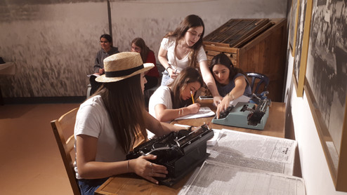 High school students in active learning
