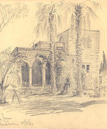 זיכרון בעיפרון. רישומים של האדריכל דוד ויטמן מהשנים 1943-1940