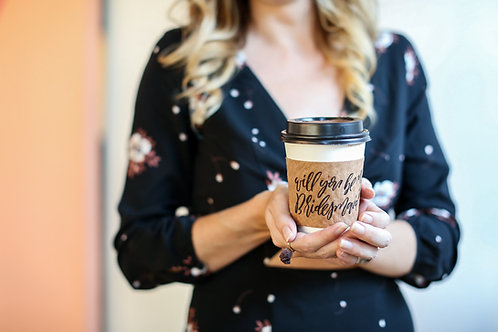 Will you be my bridesmaid coffee sleeve