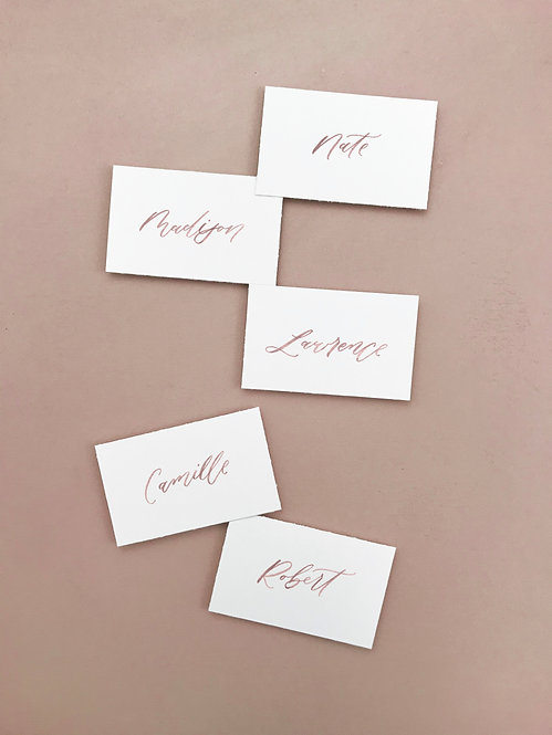 Brushlettering place cards/escort cards - set of 10