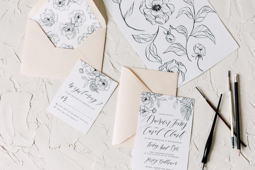 d53e7e52e09 Watercolor Wedding Invitations