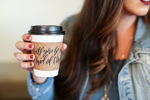 Will you be my maid of honor coffee sleeve