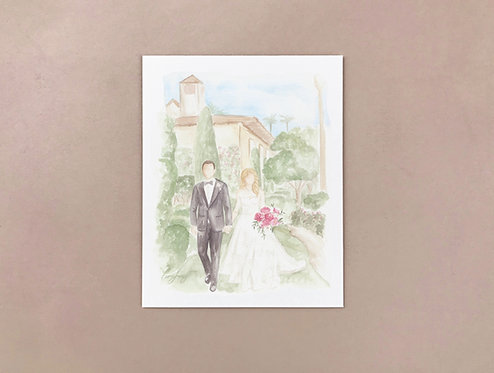 Wedding photo illustration