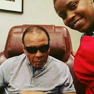 Nichelle with Sports Legend Muhammad Ali