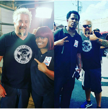 Nichelle and Shawn Thurston with Chef Guy Fieri
