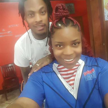 Nichelle Thurston with Rapper Waka Flocka