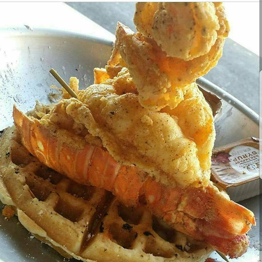 World Famous Fried Lobster and Waffle