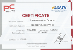Robert Żuchowski certyfikat ACSTH