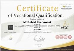 Robert Żuchowski certyfikat VCC
