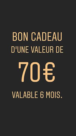 Copie de BON CADEAU 70€