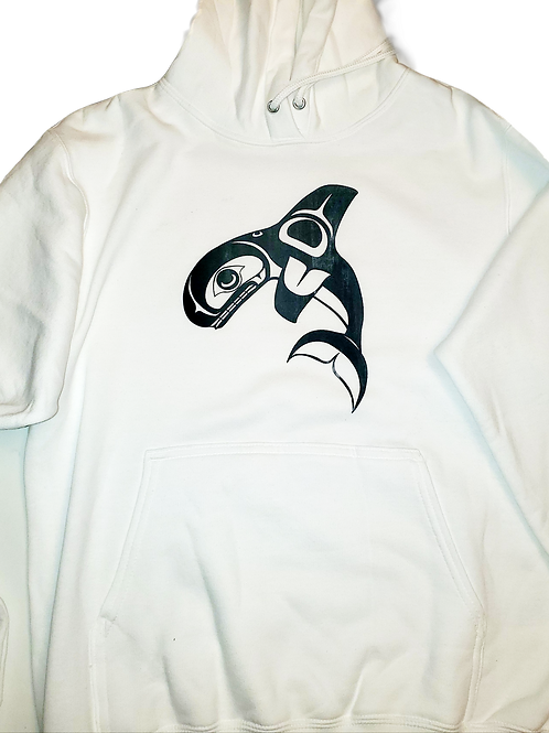 White Hoodie with concrete print