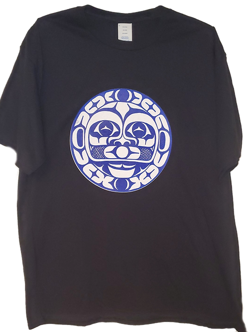Adult Moon Tee (Black/Royal)