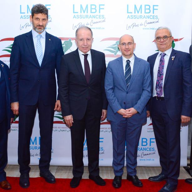 President Jean Hammam, Jasem Kanso, Consul Général, Charles El-Mir, Noel Feghali, Ralph Melki