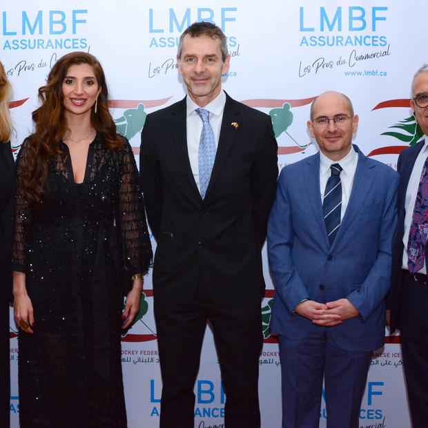 Belgium's Ambassador to Canada, General Consul Antoine Eid, Joyce Azzam. Charles El-Mir