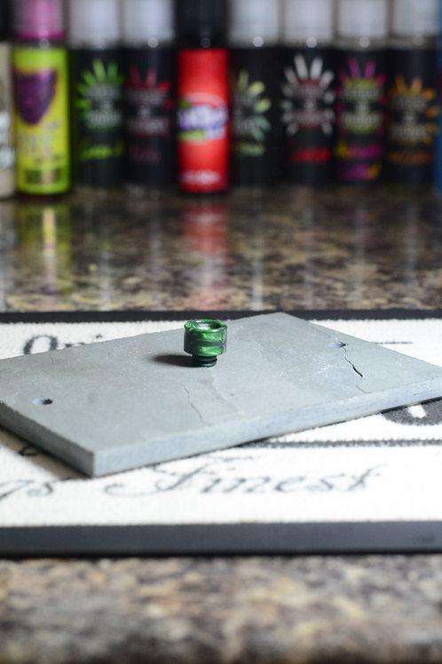 green red hexagon resin 510 driptip