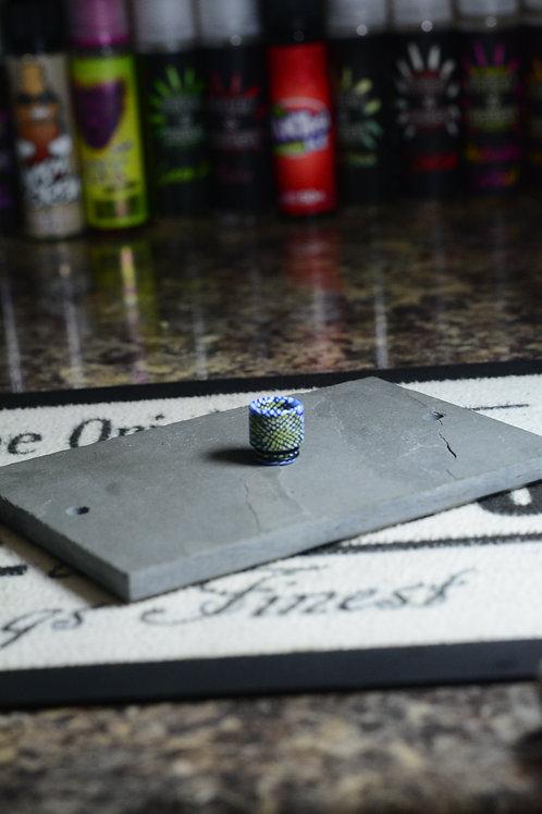 blue white yellow resin 810 driptip