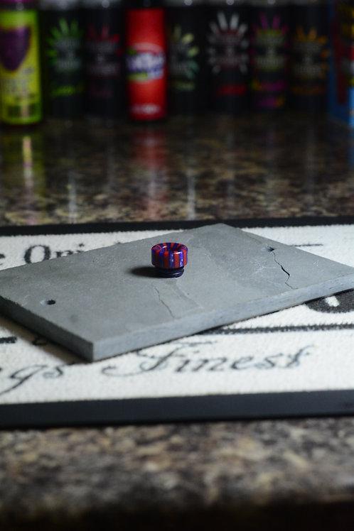 purple red stripe resin 810 driptip