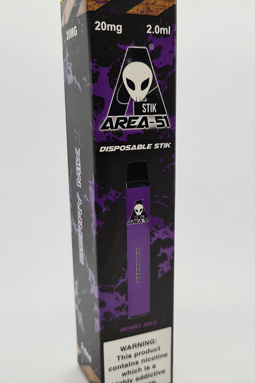 Area 51 Berry Mix 20mg 2.ml disposable