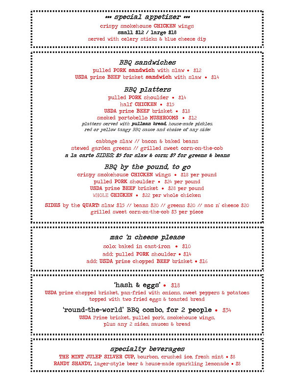 BBQ MENU, with to-go, FEBRUARY 4, 2020,