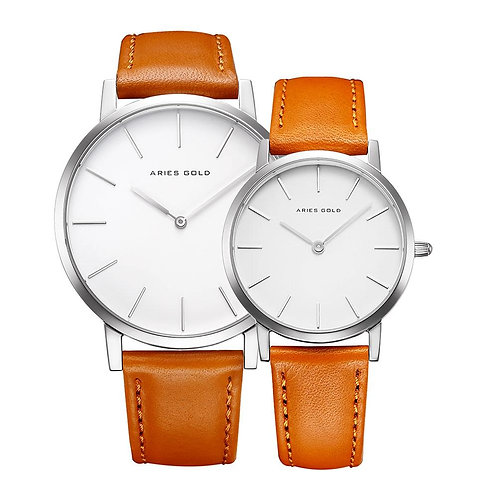 Aries Gold Santos 1022 and 1023 Couple Watches