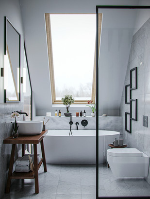 CGI- White Bathroom