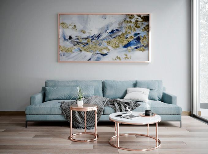 CGI- Black Balance Sofa