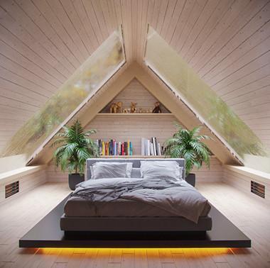 CGI- Cabin bedroom