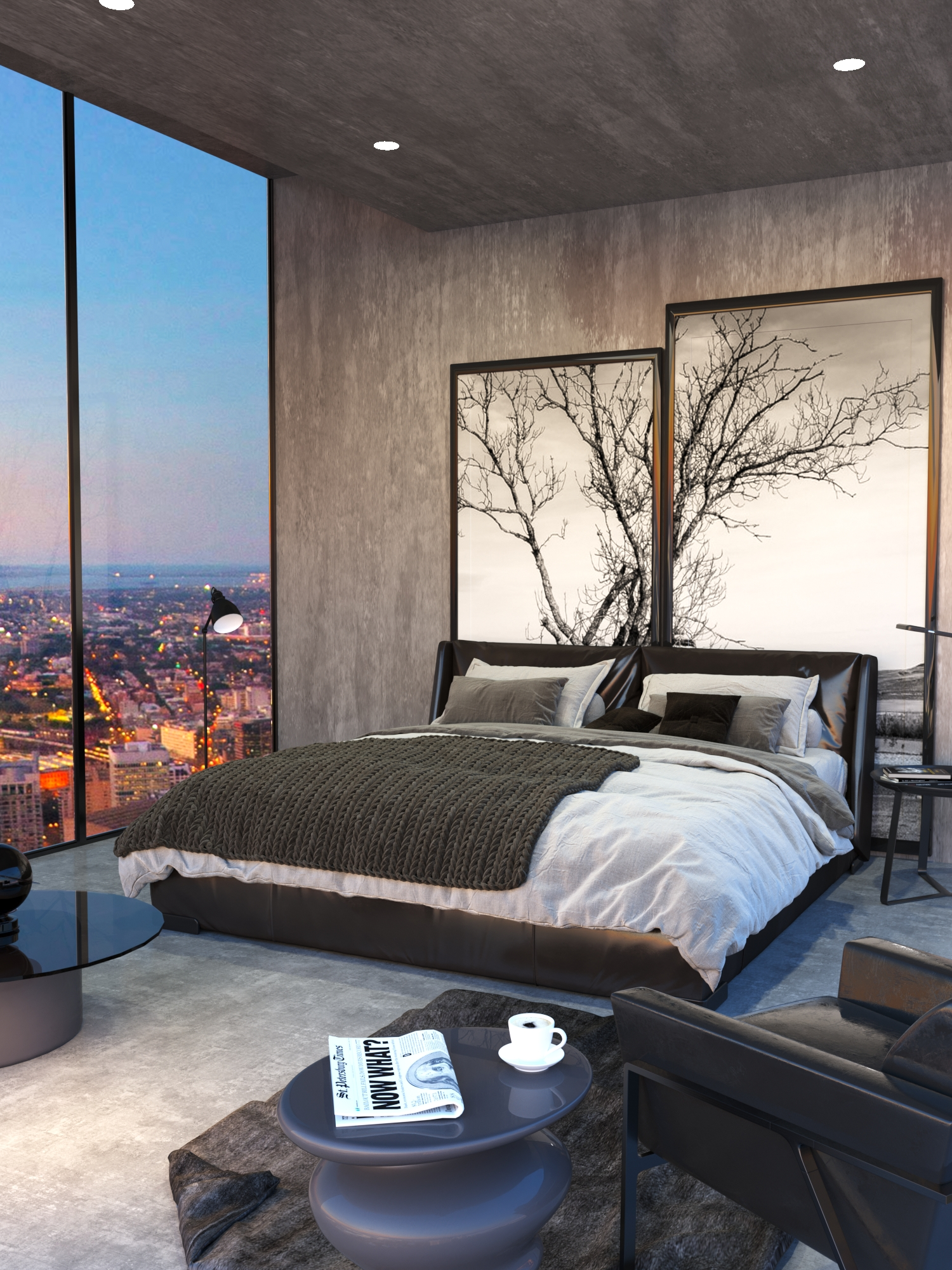 Skyscraper Bedroom