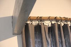 Tree branch curtain pole