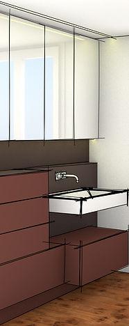 Spiegelkasten, Spiegelkasten, Duschverglasung Badezimmerumbau Planung Umbau Badmöbel Arth Schwyz