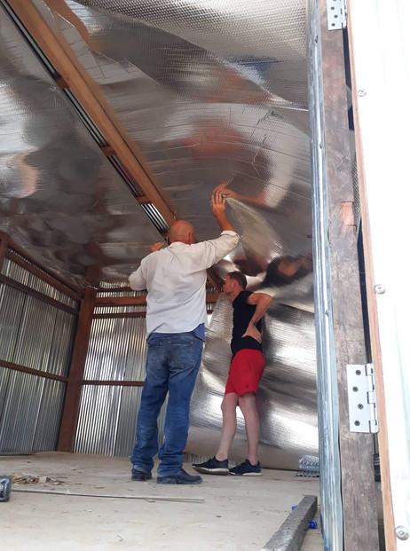 Isolatie voor het dak, dit houd de warmt