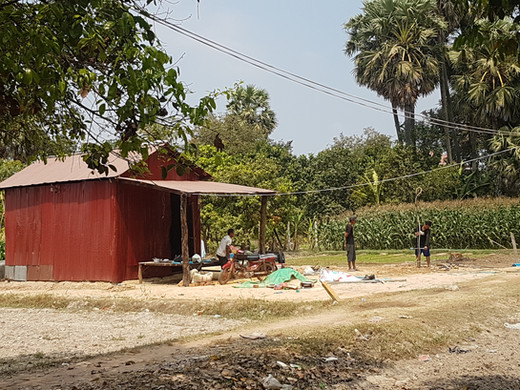 Huis gezin omgeving Siem Reap
