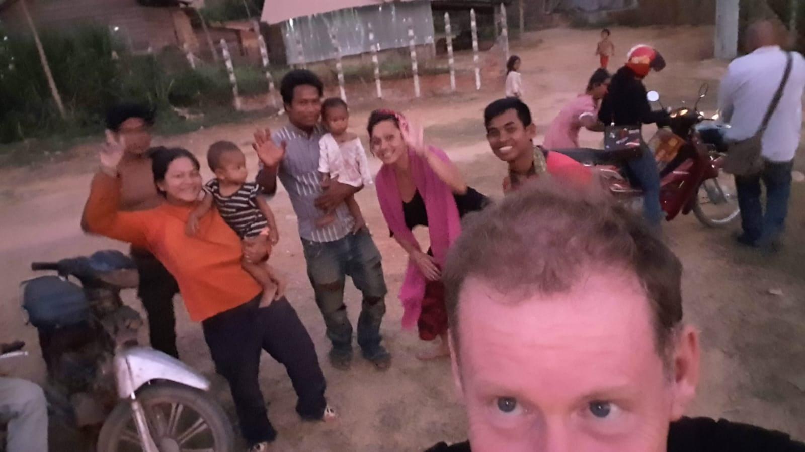 Afscheid laatste avond Cambodja