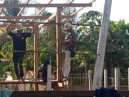 Bouw van het nieuwe huis