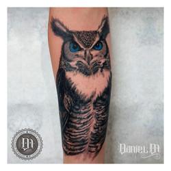Búho Tattoo Realismo