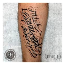 Letras Pierna Tattoo