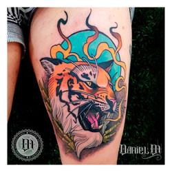 Tigre Tattoo Neotradicional