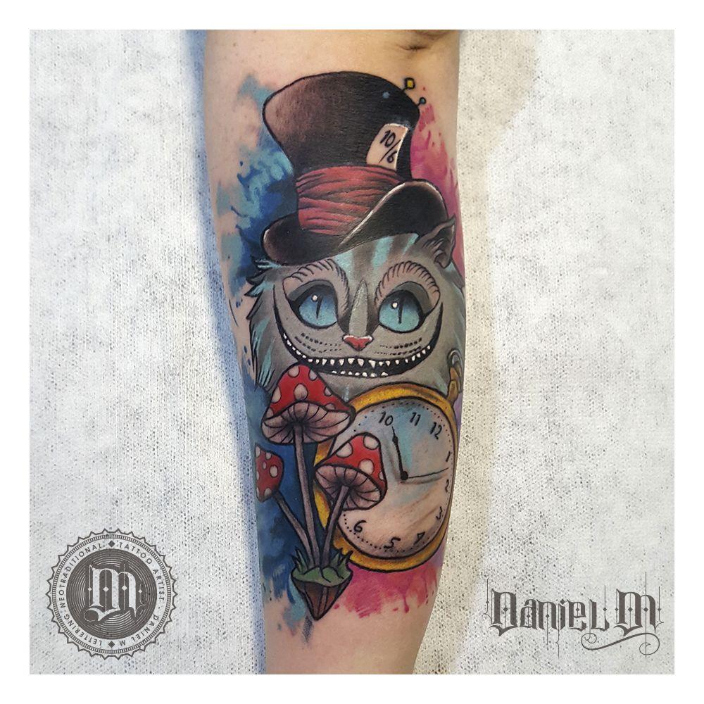 Gato Alicia Tattoo Neotradicional