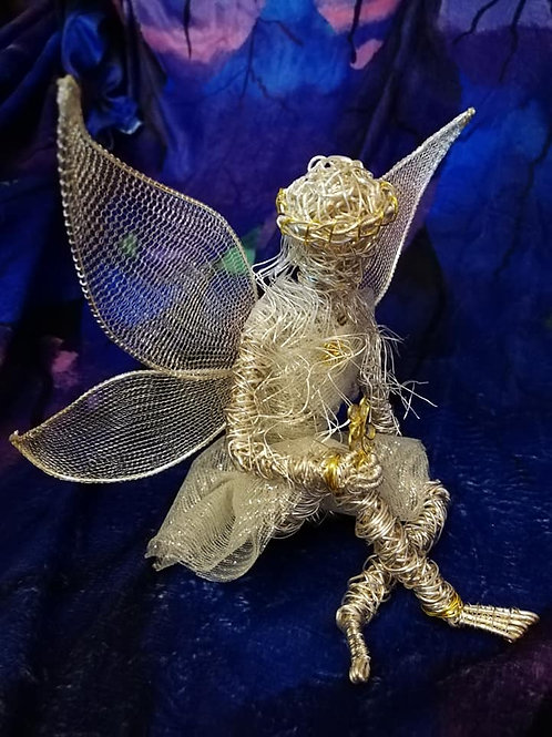 Sally - Sil Plated wire ornament - Avebury Faerie =SOLD