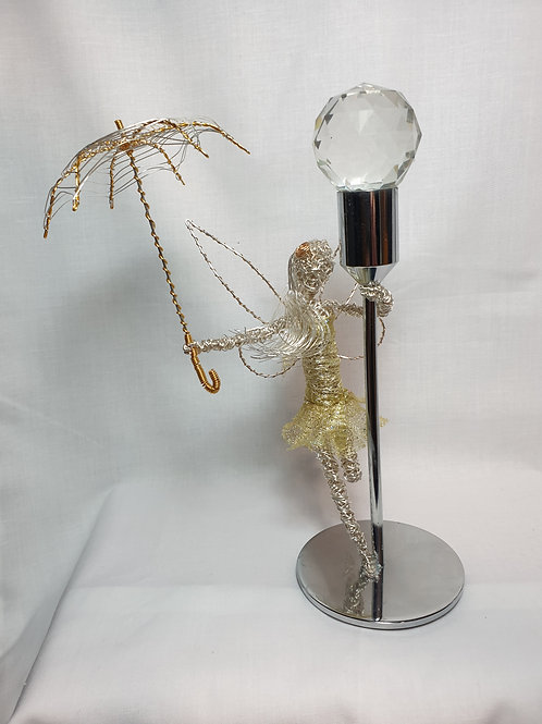 Leelou - Sil Plated Wire Sculpture - Avebury Faerie