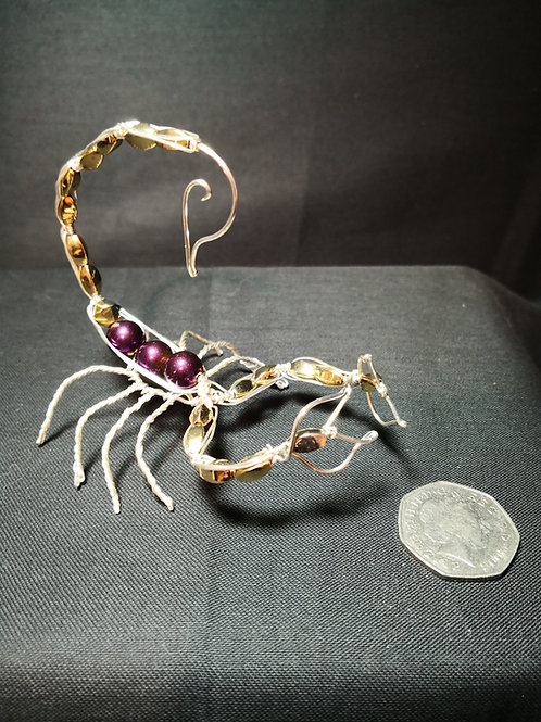 Silver Plated and Bead Scorpions - Avebury Faeries
